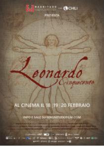 locandina-poster-leonardo cinquecento-dreamingcinema